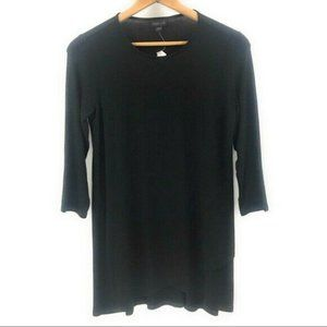 J.Jill Women's NWT Midi Long Sleeve Black Dress, S